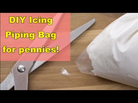 Diy Easy Icing Piping Bag For Pennies