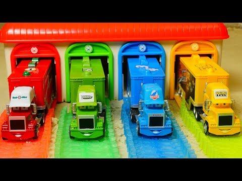 Aprende los Colores en Español con Cars Disney Garaje - Camión Mack Aprender Colores para niños