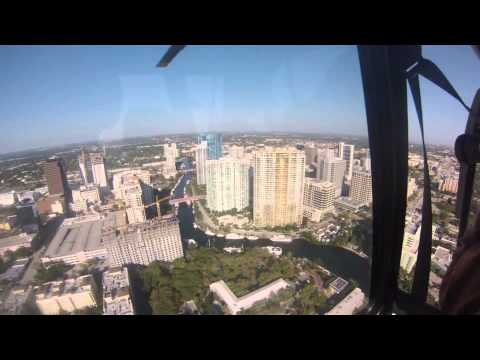 Flying in Helicopter over South East Florida