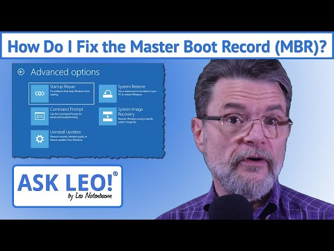 How Do I Fix The Master Boot Record (MBR)?