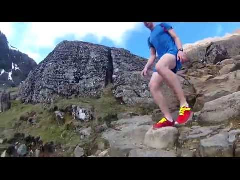 Snowdon Trail Run. Pyg Track and Miners' Track. Off-Road Running.