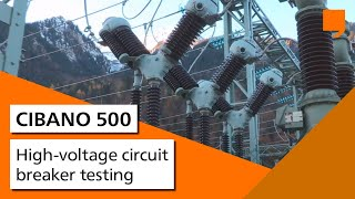 High-voltage circuit breaker testing with OMICRON