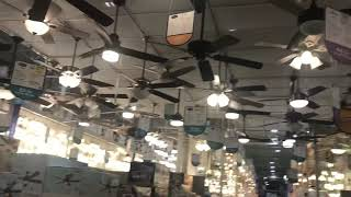 Ceiling fans at Lowe's (as of March 1st 2020)