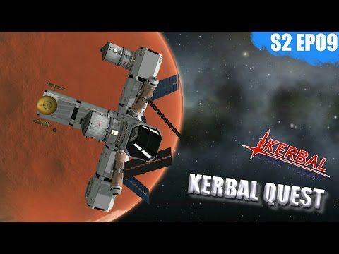 KSP - SINGLE LAUNCH DUNA SPACE STATION - Kerbal Quest S2 - P