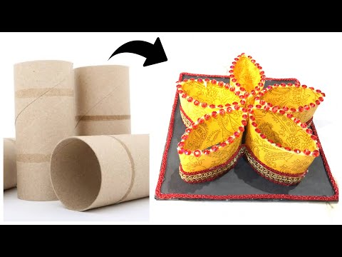 Creative Idea Using Tissue paper Roll | Tissue paper roll craft | Home decoration
