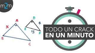 Triángulos semejantes | En 1 minuto