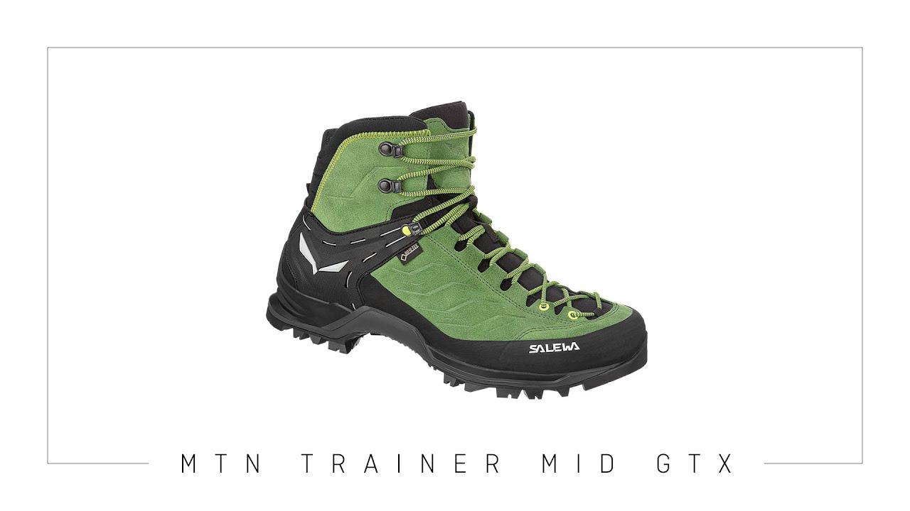 Salewa Mtn Trainer Mid Gtx Trekking Boot Youtube