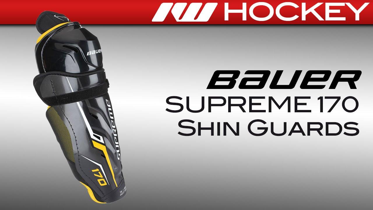 6720fbf7bc1 Bauer Supreme 170 Hockey Shin Guards Review - YouTube