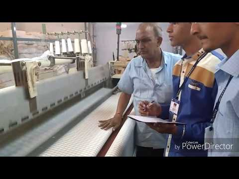 How it's made fabric.Textile manufacturing process.