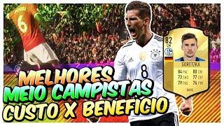 🎮 FIFA 18 | MELHORES MEIO CAMPISTAS CUSTO X BENEFÍCIO - JOGADORES BONS E BARATOS ULTIMATE TEAM
