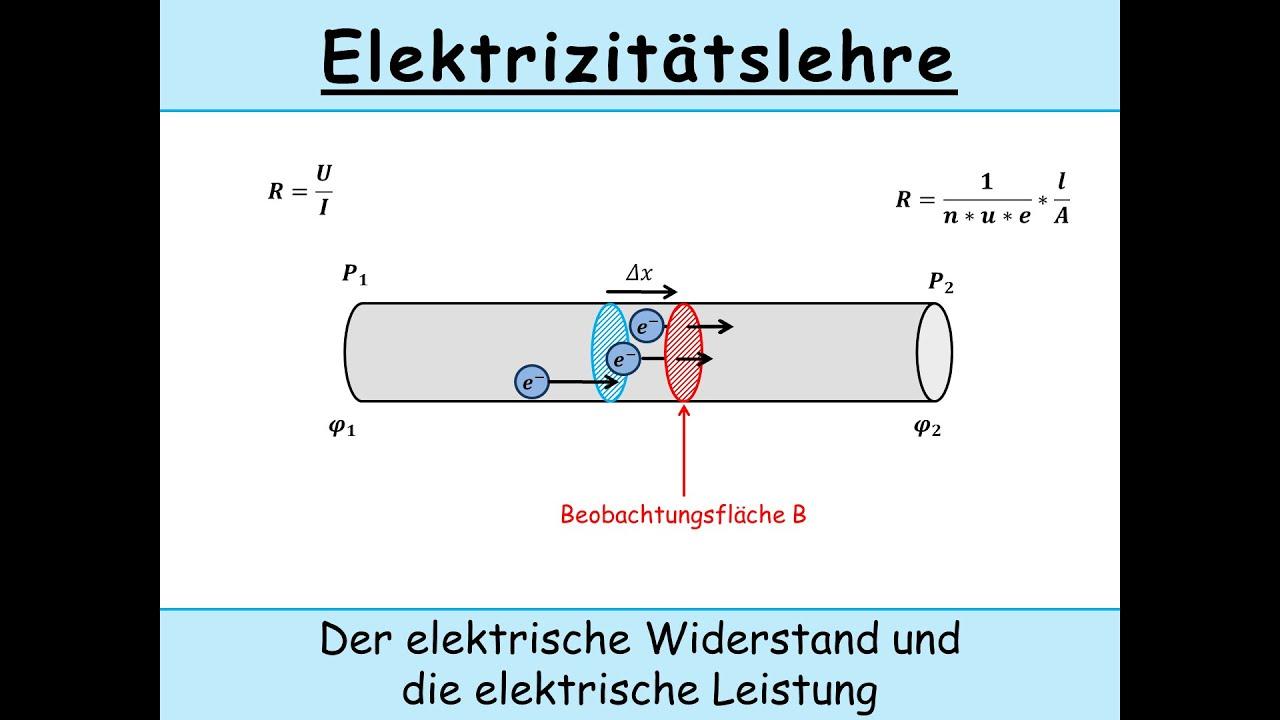 Elektrischer Widerstand (Herleitung | spezifischer Widerstand) und ...