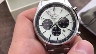 Unboxing Orient Neo 70s Panda WV0041TX Solar Chronograph