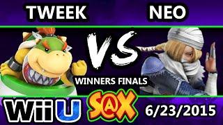 S@X 103 - Tweek (Bowser Jr.) vs Neo (Sheik) SSB4 Winners Finals - Smash Wii U - Smash 4