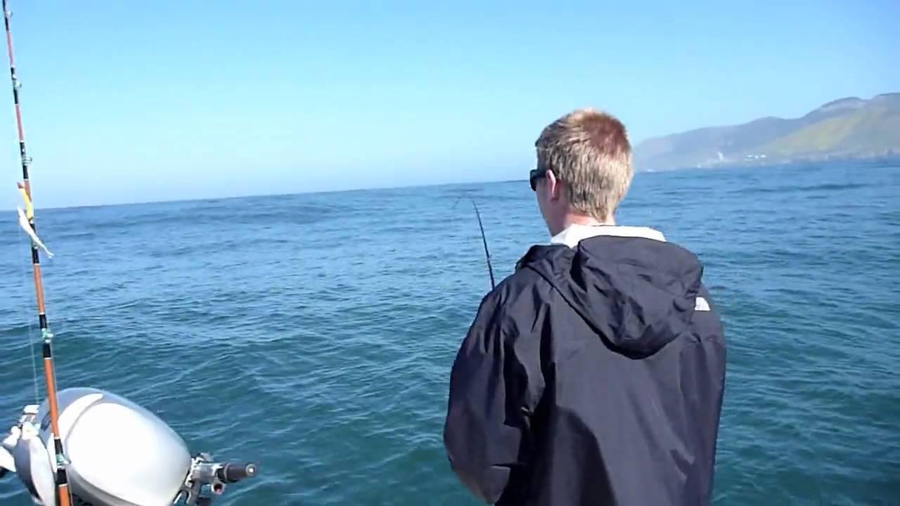 Rockcod fishing near avila beach ca youtube for Avila beach fishing