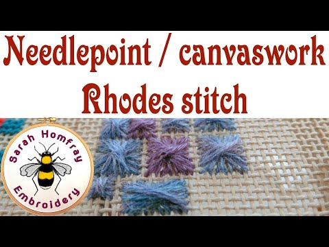 Hand Embroidery  - Rhodes stitch for needlepoint / canvaswork