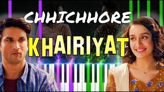 ♫ Tribute #2 Sushant - KHAIRIYAT    🎹 Piano Tutorial + Sheet Music (with English Notes) + MIDI