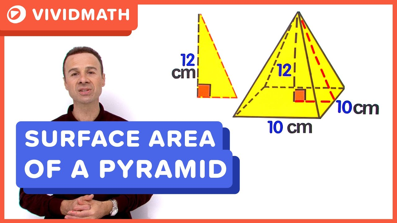 Surface Area Of A Pyramid Youtube