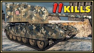 FV4005 Stage II - 11 Kills - 10K Damage - World of Tanks Gameplay