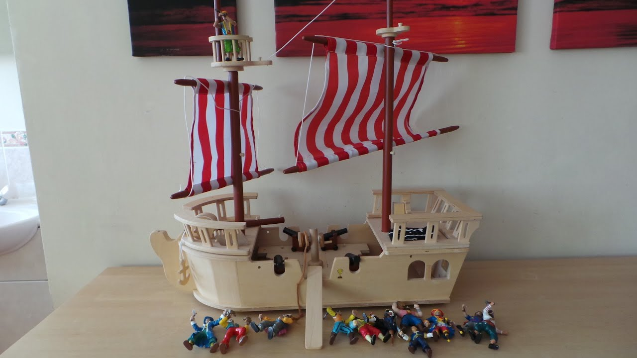 Quality Early Learning Center Wooden Pirate Ship With A