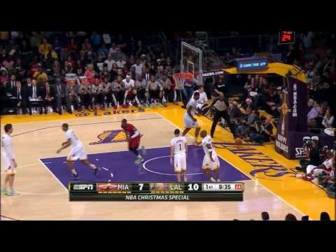 Miami Heat vs Los Angeles Lakers Full Highlights (2013.12.25)