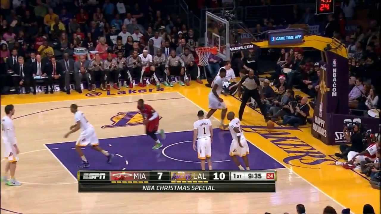 Miami Heat Vs Los Angeles Lakers Full Highlights 2013 12 25 Youtube