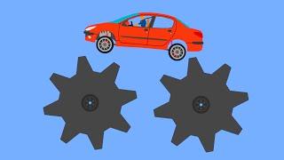 Extreme Car Crashes  Phun Algodoo Moments #8
