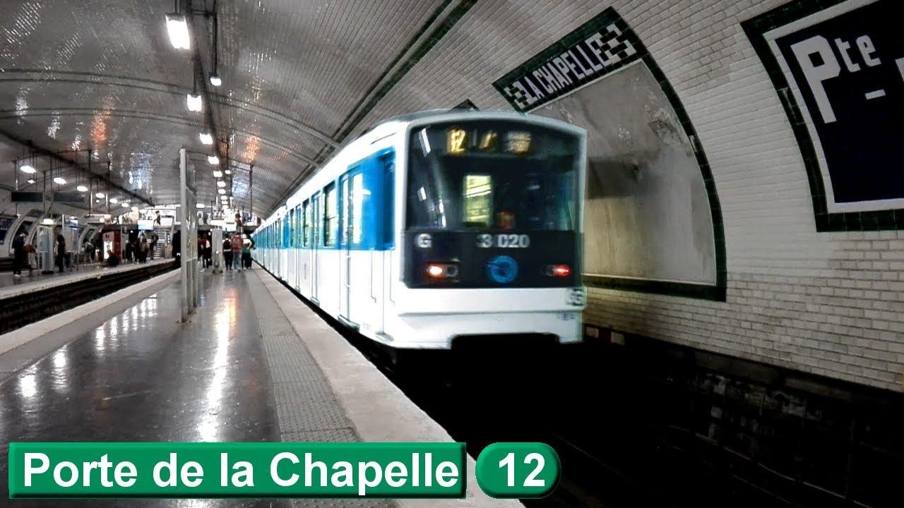 porte de la chapelle ligne 12 metro de paris ratp mf67