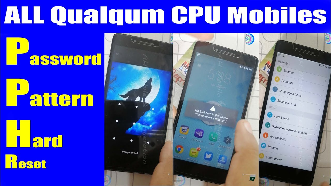 ALL Qualcomm CPU Mobiles Pattern Unlock Without Data Loss Miracle | Urdu Hindi
