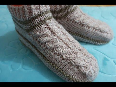 вязание спицами следки носки на 2 спицах для начинающих мастер