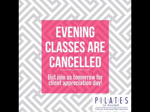 Evening Classes are Cancelled