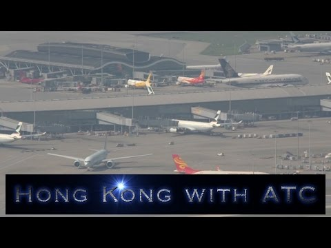 Hong Kong Chek Lap Kok airport with ATC Part 2