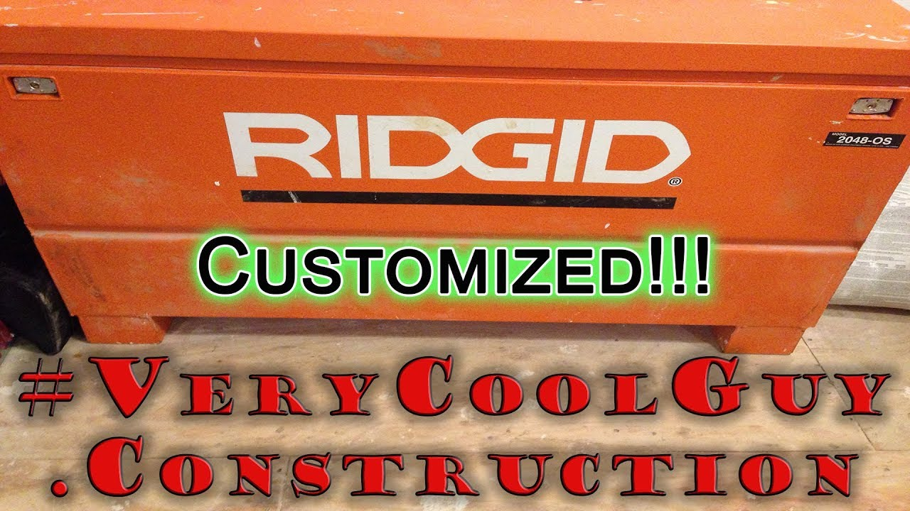 ridgid jobsite box customization [ 1280 x 720 Pixel ]