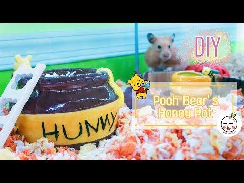 DIY   Winnie The Pooh's Honey Pot Hamster House