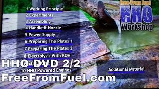 HHO DVD - FreeFromFuel.com 2/2 - HHO Workshop builders DVD for sale