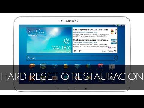Samsung Galaxy Tab 10 1 Hard Reset Restauracion De Fabrica