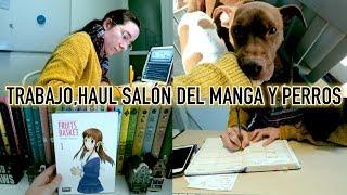 Día de trabajar en casa, HAUL Salón del Manga y muchos mimis perrunos | Christine Hug