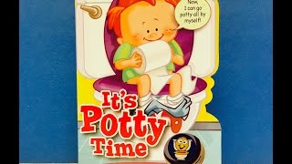 Its Potty Time Learning Read-A-Long Book with Toilet Push Button