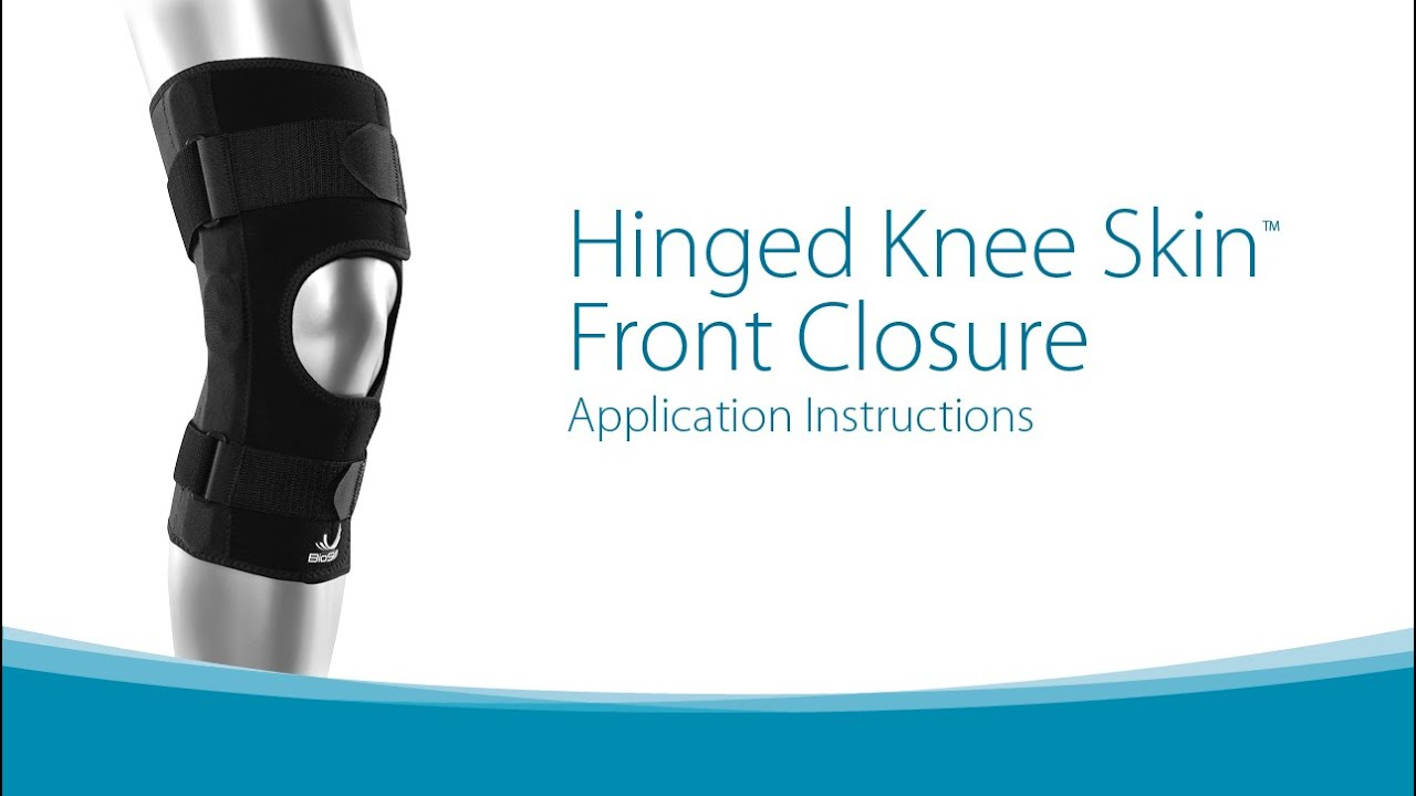 ca2337abbe Hinged Knee Skin Front Closure Application Instructions - YouTube