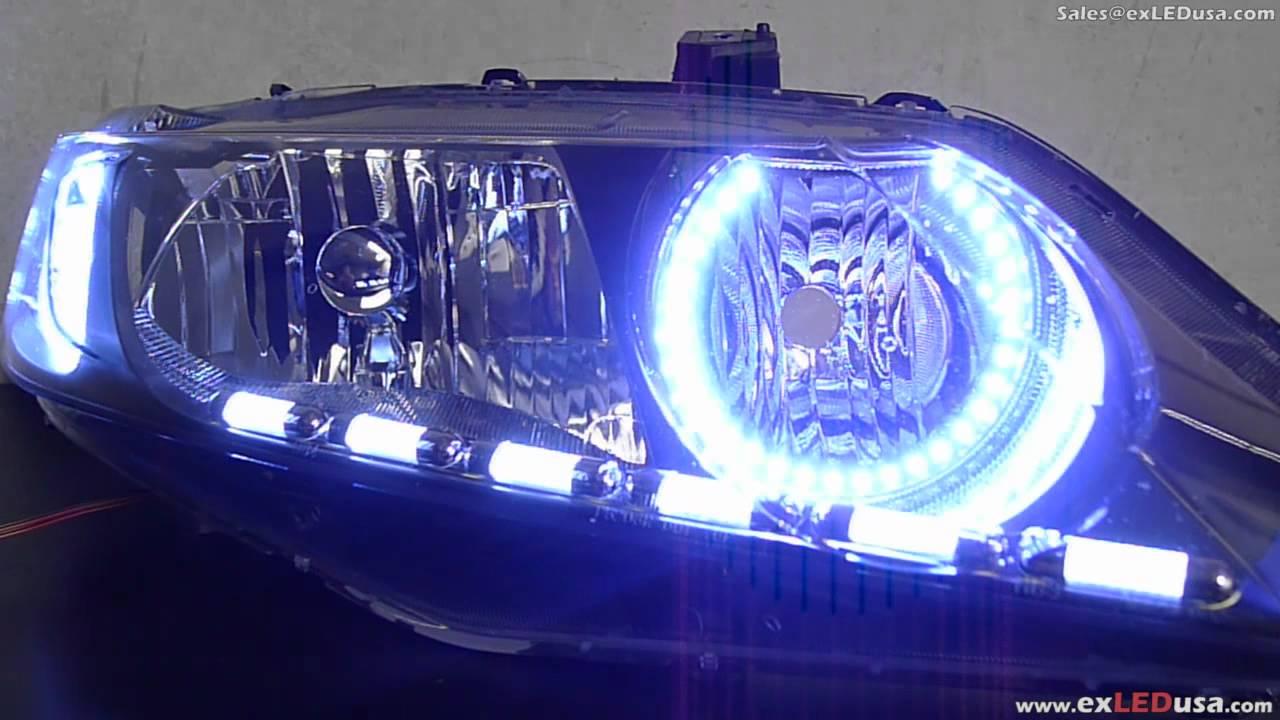 Exledusa 8th Honda Civic Custom Led Headlight Custom