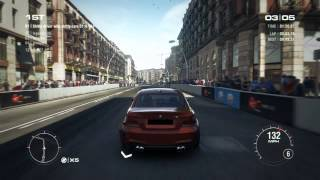GRID 2 PC Multiplayer Race Gameplay: Tier 1 Upgraded BMW 1 Series M Coupe in Barcelona, High Street