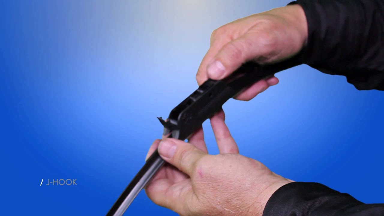 How To Install Windex Wiper Blades J Hook Adapter
