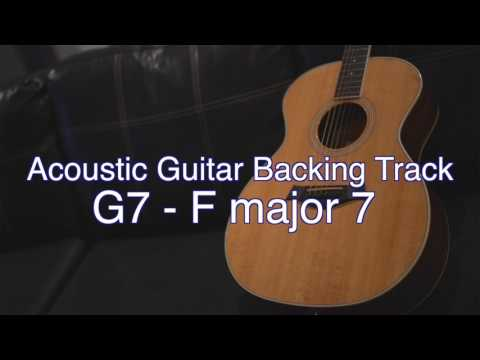 acoustic guitar backing track g7 fmajor7 key of c sean daniel myguitarworkshop guitar. Black Bedroom Furniture Sets. Home Design Ideas