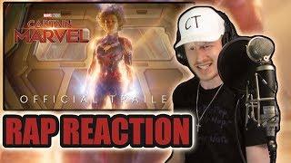 Captain Marvel - Trailer 2 (Rap Reaction!)