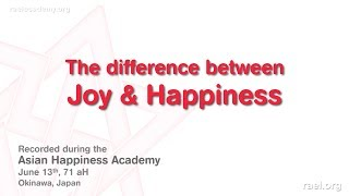 Gambar cover Maitreya Rael: The Difference Between Joy and Happiness (71-06-13) - Part 5 of 9