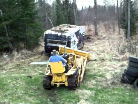 Camper Vs Bulldozer John Deere 440 Crawler Dozer Youtube