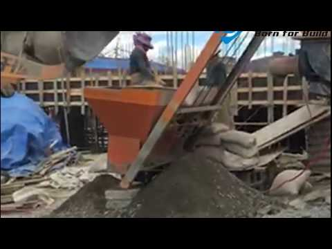 JS Twin Shaft Concrete Mixer With Pump Working Video-1
