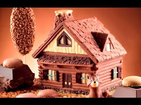 Casetta Di Natale Di Cioccolato : Stampo casetta di cioccolato step by step youtube