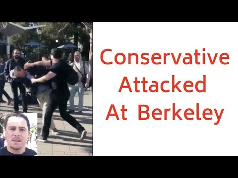 Conservative Attacked By Leftists At UC Berkeley