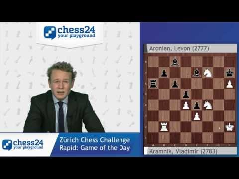 Game of the Day: Kramnik - Aronian, Zürich Chess Challenge Rapid