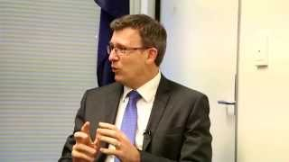 Alan Tudge (Parl Sec to PM) speaks to IEC's Chairman
